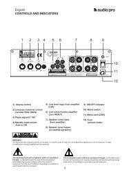 2. installation - Audio Pro