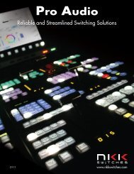 Pro Audio Brochure - NKK Switches