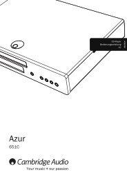 AP304821 Azur 651C User's Manual - 02 ... - Cambridge Audio