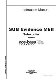 SUBEvidence_MkII_IM_115V_ manual.pdf - Audio Pro