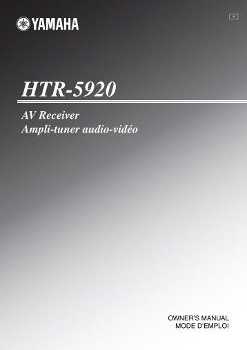 HTR-5920 AV Receiver Ampli-tuner audio-vidéo