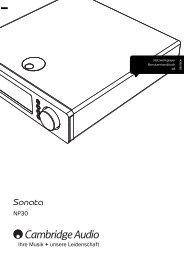 AP256501 CA Sonata NP30 User's Manual - 02 ... - Cambridge Audio