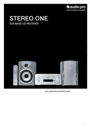 stereo one ace bass cd-receiver - Audio Pro