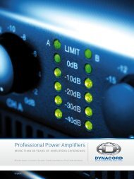 Professional Power Amplifiers - Dynacord
