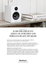 AUDIO PRO PRESENTS addon six, POWERED AND WIRELESS ...