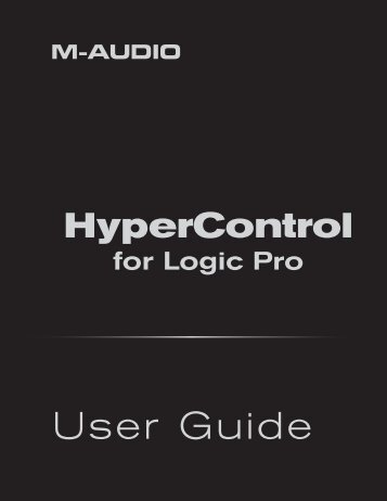 HyperControl for Logic Pro | User Guide - M-Audio