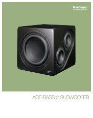 ACE-BASS 2 SUBWOOFER - Audio Pro