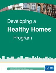 Developing a Healthy Homes Program - Centers for Disease Control ...