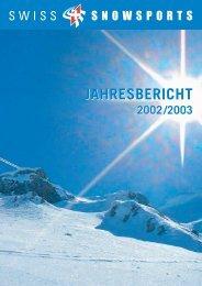 JAHRESBERICHT - Swiss Snowsports