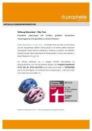 AKTUELLE KUNDENINFORMATION Stiftung Warentest ... - Prophete