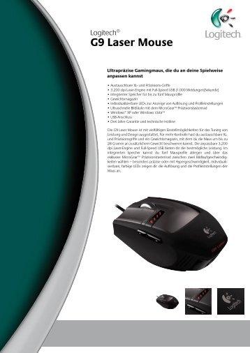 G9 Laser Mouse Paketinhalt