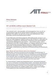 Press Release AIT und BOKU er