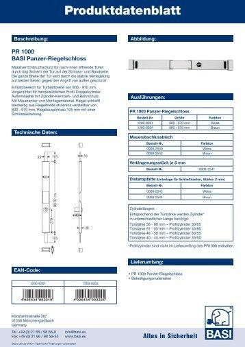 Produktdatenblatt - Basi GmbH