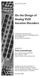 On the Design of Analog VLSI Iterative Decoders - Electronics ...