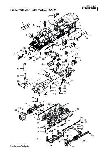 Einzelteile der Lokomotive 55152 - Spur-1-Freunde-Berlin