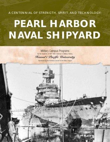 Pearl Harbor Naval Shipyard - Navsea - The US Navy
