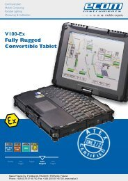 V100-Ex Fully Rugged Convertible Tablet - Malux Finland Oy