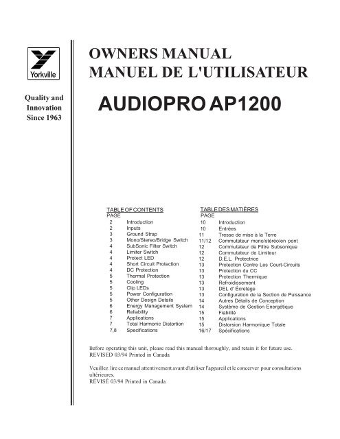 audio pro sp8 manual tire
