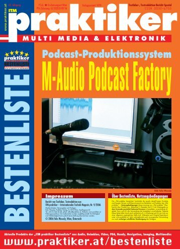 M-Audio Podcast Factory: Podcast-Produktionssystem ... - praktiker.at