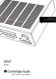 AP308361-B AZUR 551R USERS MANUAL - 01 ... - Cambridge Audio