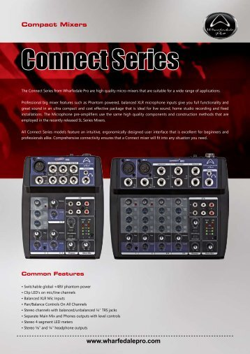 connect series brochure - Wharfedale Pro