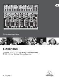 XENYX 1002 - Behringer