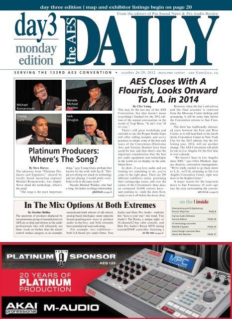 Day 3 - Monday Edition - Audio Engineering Society