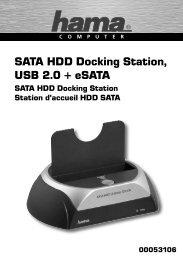 SATA HDD Docking Station, USB 2.0 + eSATA - ELV