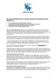 Presseinformation Download (PDF, 160 KB) - Big Blue