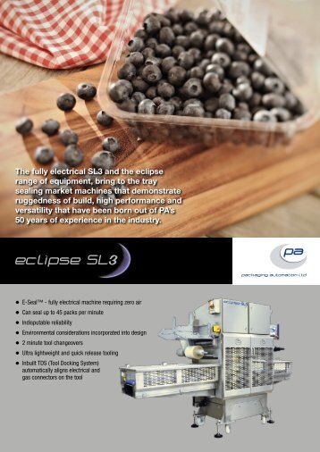 eclipse SL3 - Packaging Automation Limited