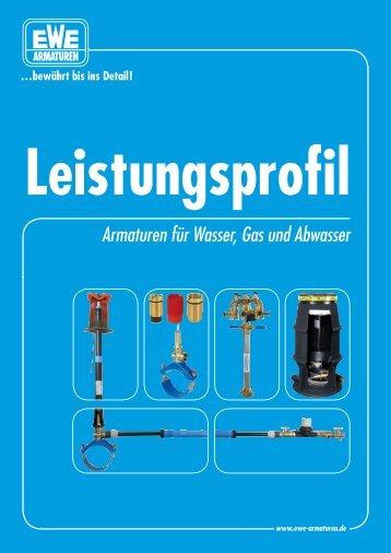 Armaturen für Wasser, Gas und Abwasser - Ewe