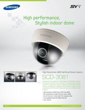 High Resolution WDR Varifocal Dome Camera - Samsung