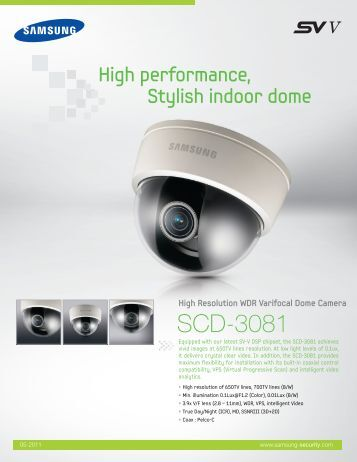 High Resolution WDR Varifocal Dome Camera - Samsung