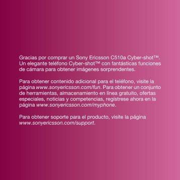C510 Guía del usuario - Sony