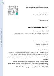 Les pouvoirs du danger. Zone indsutrielle de Fos-sur-Mer ...