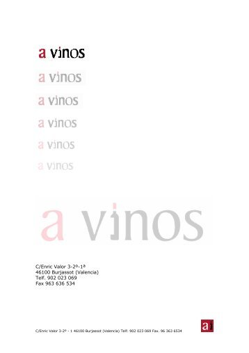 C/Enric Valor 3-2º-1ª 46100 Burjassot (Valencia) Telf. 902 023 069 ...