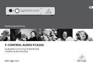 F-CONTROL AUDIO FCA202 - Behringer