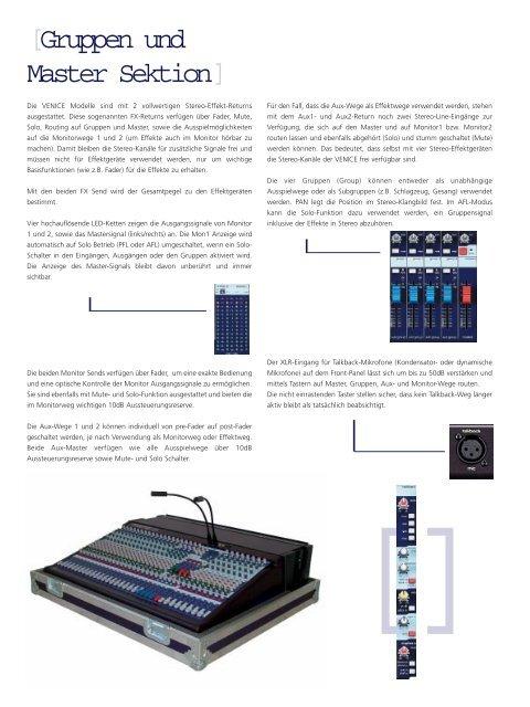 Technische Daten - Road Sound GmbH