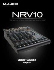 NRV10 User Guide - M-Audio