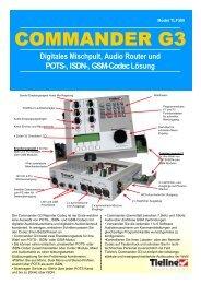 Digitales Mischpult, Audio Router und POTS-, ISDN ... - You/Com