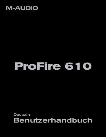 Benutzerhandbuch | ProFire 610 - m-audio