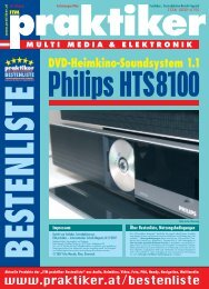 Philips HTS8100: DVD-Heimkino-Soundsystem 1.1 ... - praktiker.at