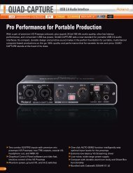 Pro Performance for Portable Production QUAD-CAPTURE ... - Roland