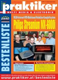 Philips Streamium MX-6000i: WLAN-Internet-DVD ... - praktiker.at