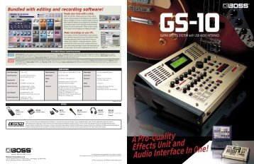 A Pro-Quality Effects Unit and Audio Interface In One! - Roland