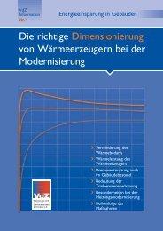 Die richtige Dimensionierung von Wärmeerzeugern bei ... - Buderus