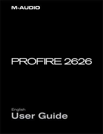 ProFire 2626 User Guide • English - M-Audio