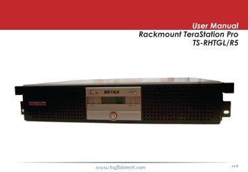 User Manual Rackmount TeraStation Pro TS-RHTGL/R5
