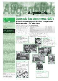Ausgabe Juli 2001 - beim Verband KVA Thurgau