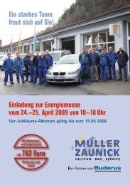 Einladung zur Energiemesse vom 24.–25. April 2009 von 10–18 Uhr ...